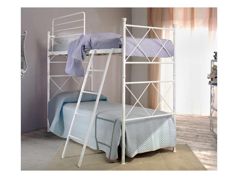 Etagenbett Leiter : Flexa white etagenbett mit senkrechter leiter weiß möbel letz