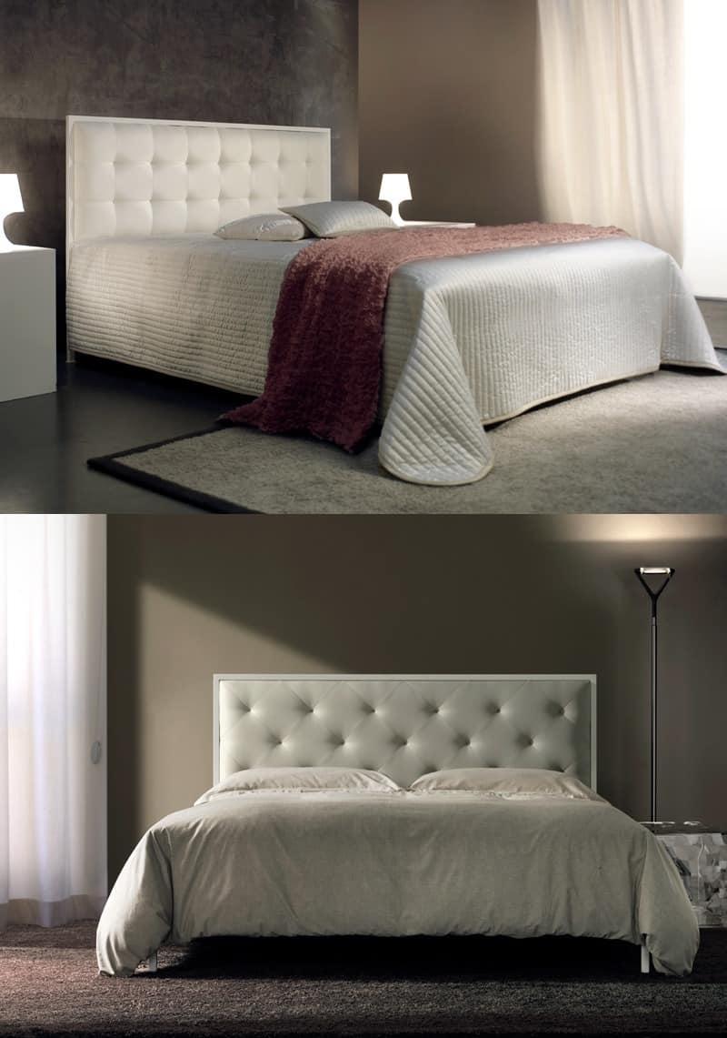 Doppelbett mit gepolstertem Kopfteil getuftete | IDFdesign