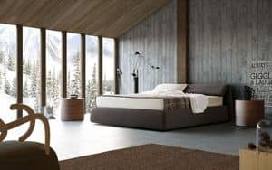 Oriente, Polsterbett, Klappkopfteil, für Schlafzimmer