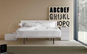 People B, Polsterbett mit Leder überzogen, zum Schlafbereich