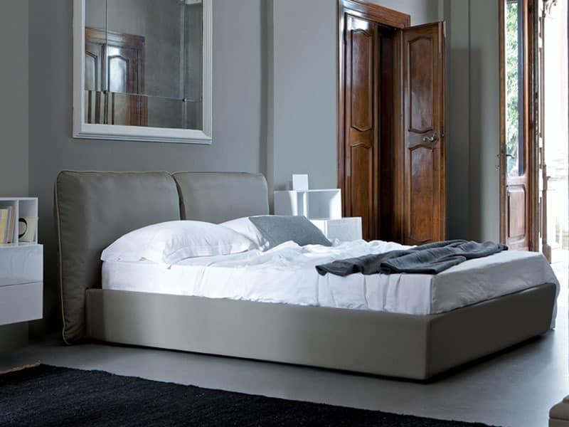 bett mit weichen kopfende einzel oder doppel idfdesign. Black Bedroom Furniture Sets. Home Design Ideas