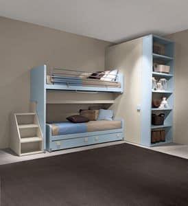 Plutone, Etagenbett, geringer Platzbedarf, maximalen Komfort