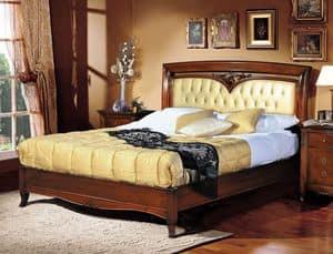 Praga Bett, Luxury klassische Bett, Kopfteil gepolstert getuftete