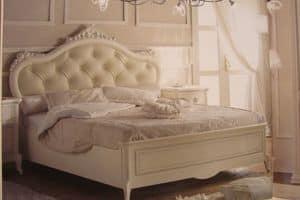 Priori, Luxus klassischen Bett für Hotels, Silberblatt Dekorationen