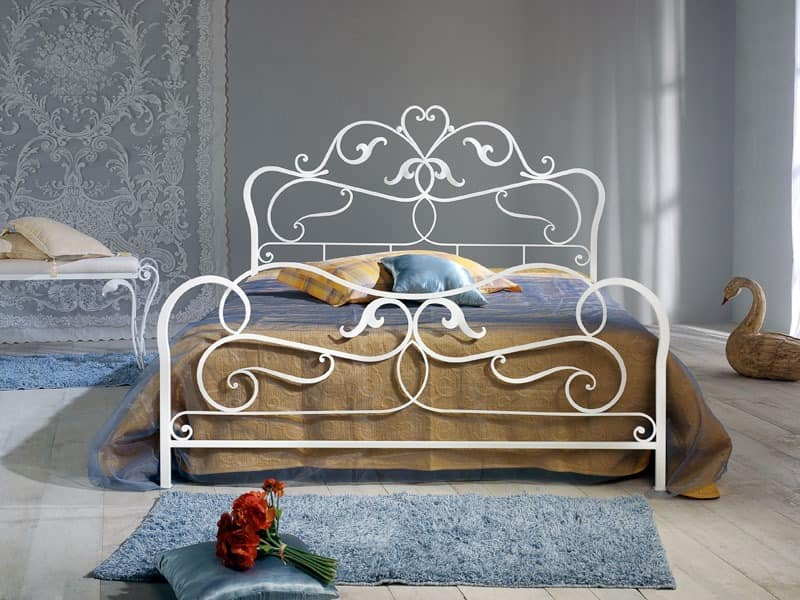 Doppelbett Aus Schmiedeeisen Antik Finish Idfdesign
