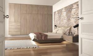 Serenity, Die Holzbetten, mit Stein Kopfbrett