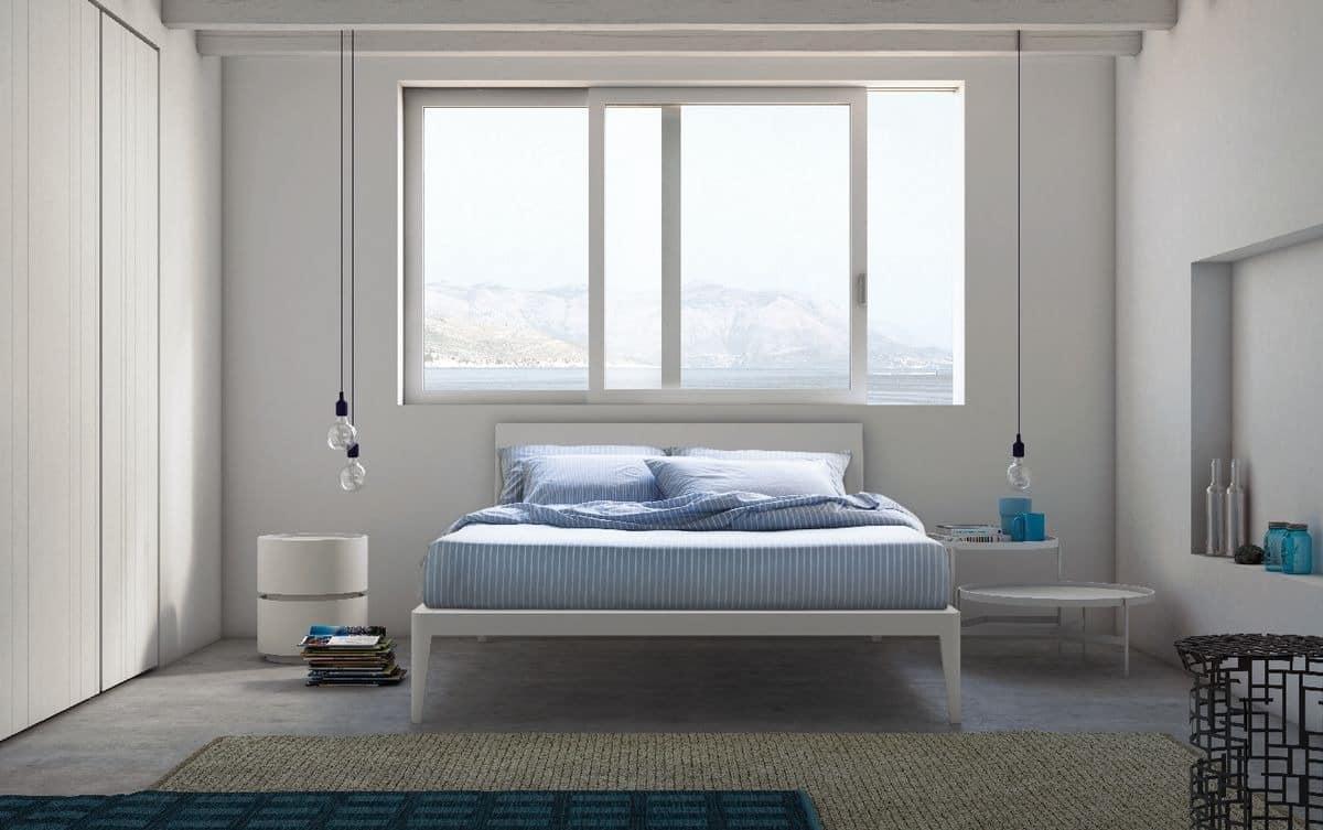 Die Holzbetten mit schlanken Linien, für Hotels und Schlafzimmer ...