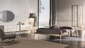 Urbino Bett, Bett in verjüngte Metall, Schraubmontage