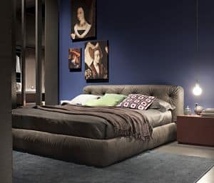 VITTORIA, Doppelbett aufgefüllt, gesteppt, abnehmbare Abdeckung