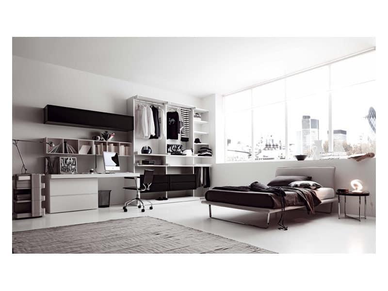 wing schlafzimmer kleine schreibtisch begehbarer kleiderschrank idfdesign. Black Bedroom Furniture Sets. Home Design Ideas