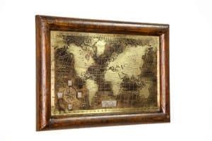 Art. AA464, Weltkarte mit Alter und gebürstet Bronze
