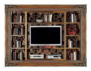4027B, Einbau-Bücherregal mit TV-Ständer