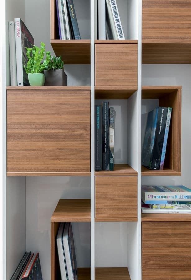b cherregal aus holz modular f r wohnzimmer idfdesign. Black Bedroom Furniture Sets. Home Design Ideas
