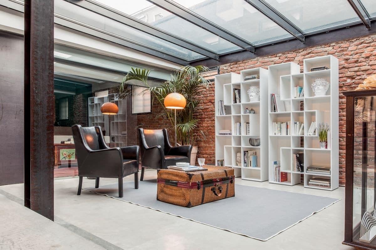 b cherregal aus holz f r wohnzimmer modulares b cherregal. Black Bedroom Furniture Sets. Home Design Ideas