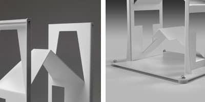 Alfabet, Bücherregal aus lackiertem Stahl, verstellbare Füße, für moderne Häuser