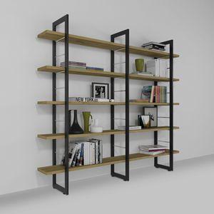 Alice, Wand-Bücherregal aus Eisen und Holz