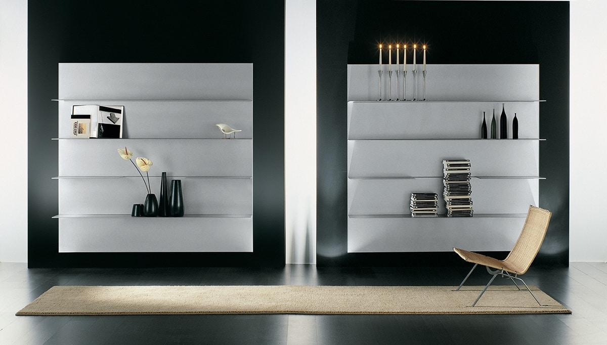 zusammensetzung der regale f r das moderne haus in aluminium idfdesign. Black Bedroom Furniture Sets. Home Design Ideas