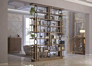 Art. 5080, Elegantes Bücherregal aus Nussbaum Canaletto