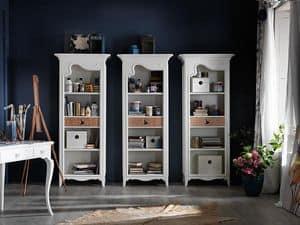 Art. AX402, Bücherregal mit Schublade, mit provenzalischen Stil