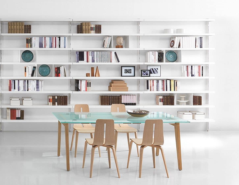 Bibliotheken zeitgenössische aus Aluminium, für Wohnungen ...