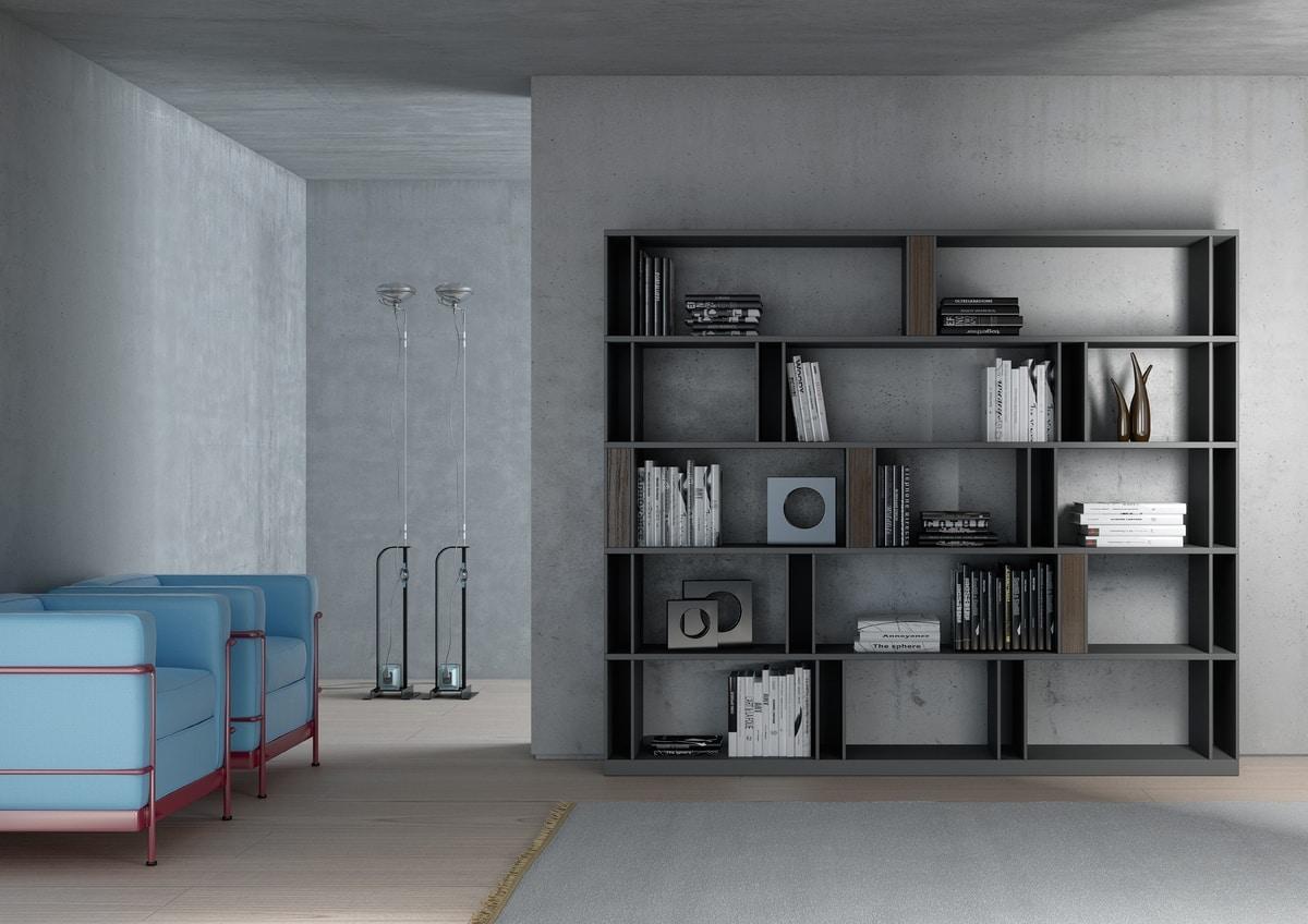 BRERA comp.01, Bibliothek von hoher Design mit Doppelseite, anpassbare