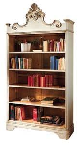 Catherine BR.0052, Lackiertes Bücherregal, mit 4 verstellbaren Fachböden