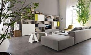 Citylife 16, Moderne Bibliothek für Wohnräume, anpassbare