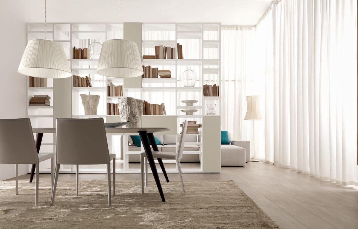 Doppelseitige Bücherregal, für Wohnräume und Speisesäle ...