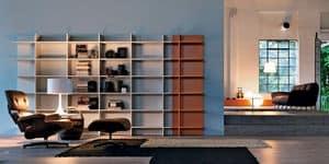 Citylife 23, Modulares Bücherregal ideal für moderne Umgebungen