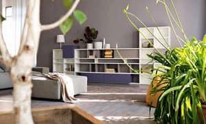 Citylife 31, Modulares Bücherregal für moderne Wohnräume geeignet