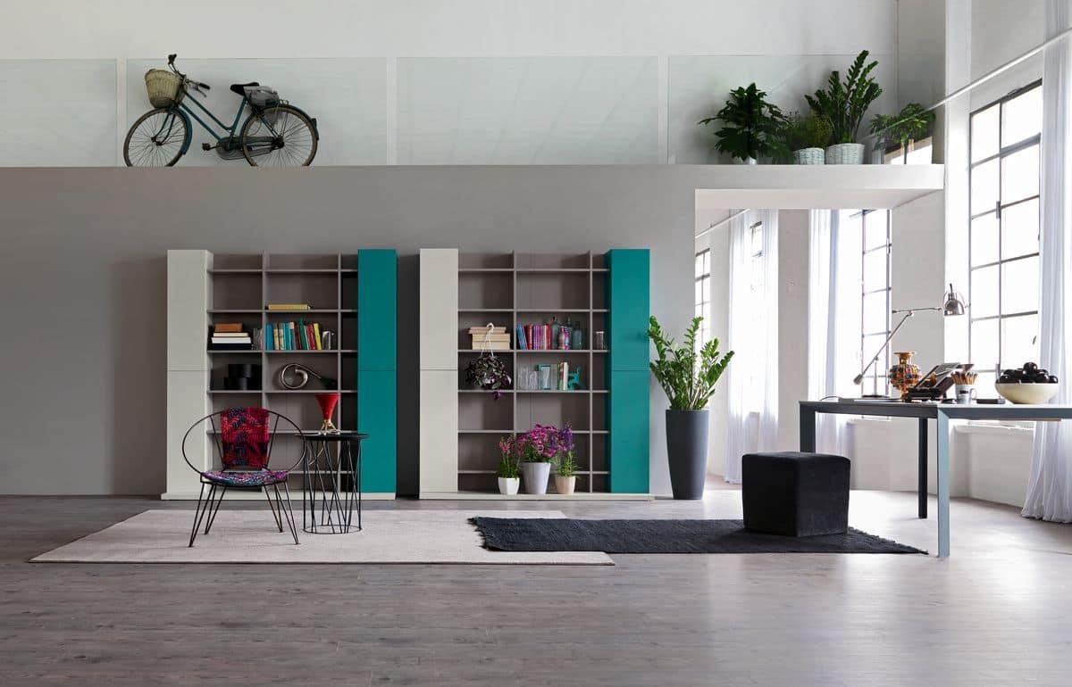 Moderne Zusammensetzung für Wohnzimmer, mit Bibliothek ...