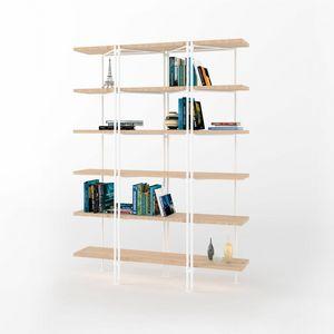 Dalton, Modularer Bücherschrank mit Eisenstruktur