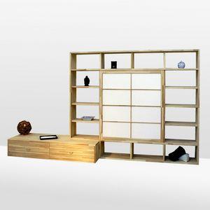 Haru-B, Bücherregal Buche, nach Maß