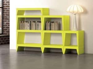 Herbert, Modulares Bücherregal ideal für moderne Wohnräume