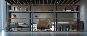 Ironwood Bücherregal Eucalipto, Modulares Bücherregal mit Eukalyptus-Regalen