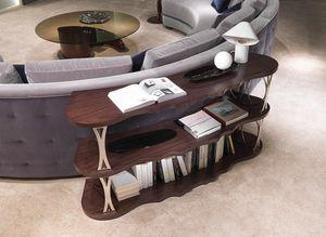 LB45 Mistral, Retro Sofa Bücherregal, mit geschwungenen Regalen