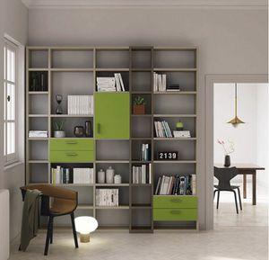 Modular – Mood 3, Modulares Bücherregal mit Schubladen