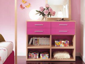 Modulari comp.04, Bücherregal für Kinderzimmer geeignet