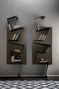 NOTA, Bücherregal aus lackiertem Metall