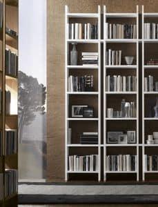 Piolo Bücherregal, Design Bücherregal, mit offenen Container, für Wohnzimmer