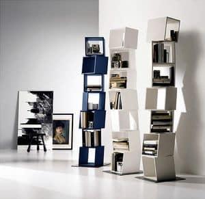 RUBIK comp.01, Bibliothek von revolvierenden Modulen zusammengesetzt, für moderne Häuser