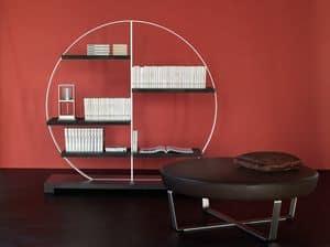 Tao bookcase 1, Stahl und Verbund Bibliothek, mit Kreisform