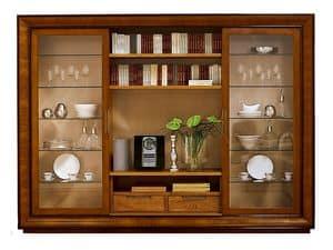 Topkapi CH.0062, Bücherregal mit 2 Glasschiebetüren