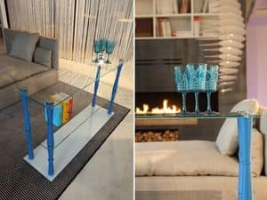 xl 700 basic, Composable Bücherregal mit Holzbeinen und Glasböden