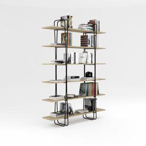 Ypsilon, Bücherregal mit eiserner Struktur