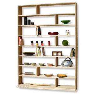 Zig Zag, Maßgefertigtes Bücherregal aus Holz