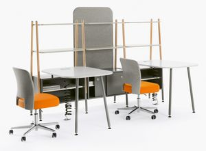 Blog, Schreibtisch im Bücherregal integriert