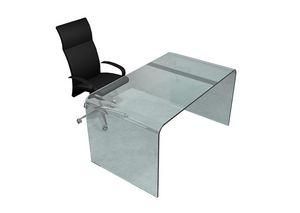 Iceberg, Schreibtisch aus gebogenem Glas