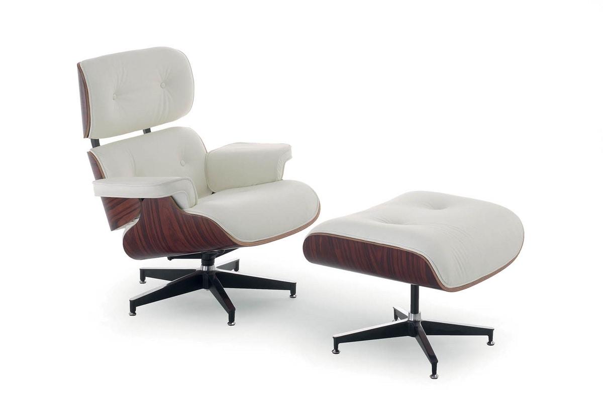 UF 158 - Replica, Lounge-Sessel mit Hocker für Liegeflächen und Büro