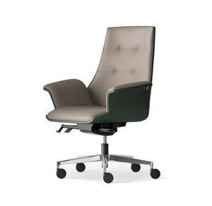 MAXIMA, Halbdirektionaler Sessel mit synchronisierten Bewegungen und Rädern